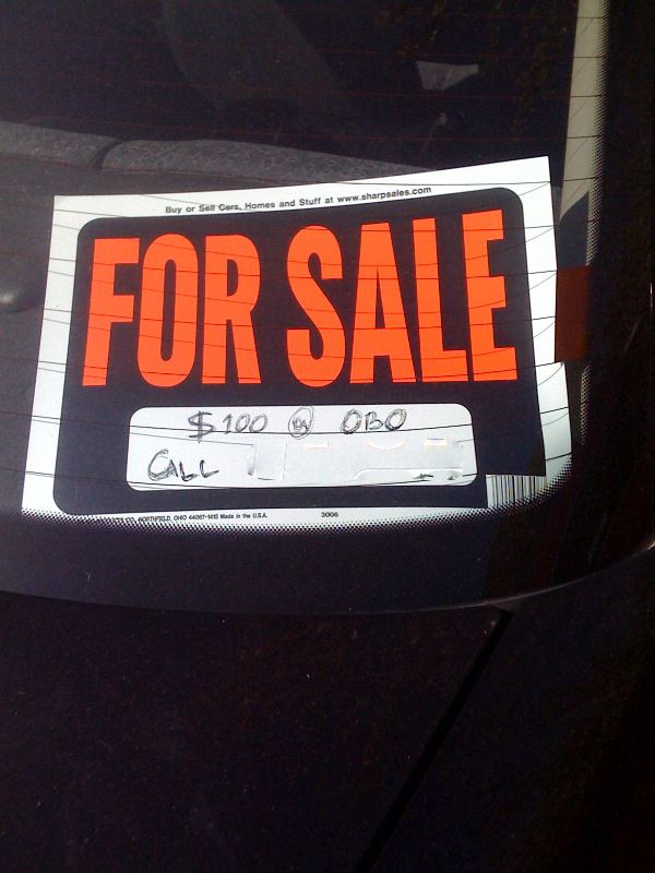 Funny For Sale Signs #17